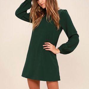 Lulu's Long Sleeve Green Dress